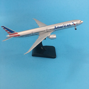 Image 5 - 20ซม.American Airlinesโบอิ้ง777เครื่องบินสหรัฐอเมริกาB777เครื่องบินรุ่น16ซมโลหะเครื่องบินDiecastรุ่นของเล่น