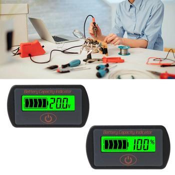 Probador de voltímetro de capacidad de batería LCD Indicador de litio de plomo-ácido de coche 12V 24V