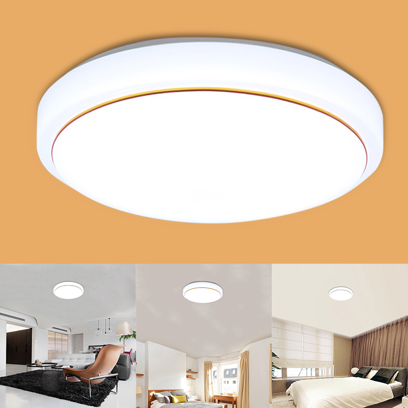 LED Acrylic Ceiling Light White Round Bedroom Balcony Lamps For Modern Kitchen Hallway CLH@8