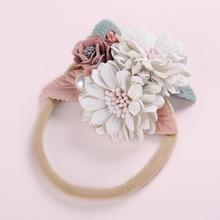 Peral Floral Baby Headbands For Girls Headmade Princess Elastic Soft Flower Headband Hairband Newborn Hair Accessories 2019