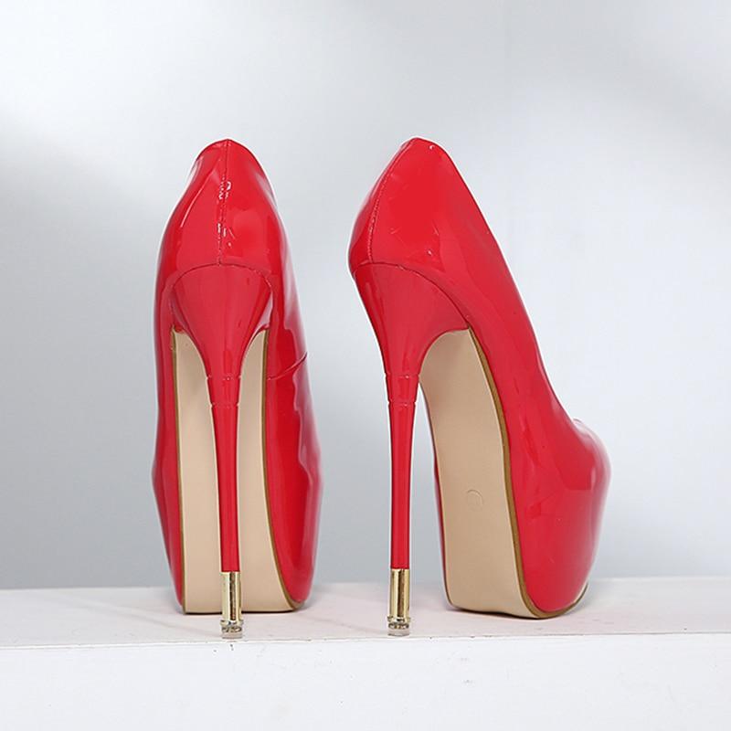 16CM Super High Heels Waterproof Platform Stiletto Nightclub Sexy High Heels Catwalk Single Shoe Wedding Shoe Elegant Women Shoe