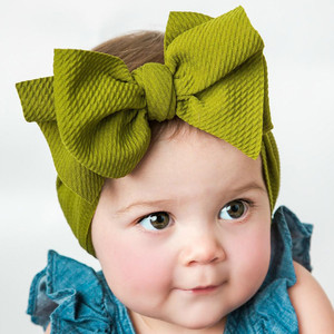 Bowknot Headband Newborn Toddler Kid Baby Girls Solid Lively Comfortable Turban Headwear Accessories opaska dla dziewczynki