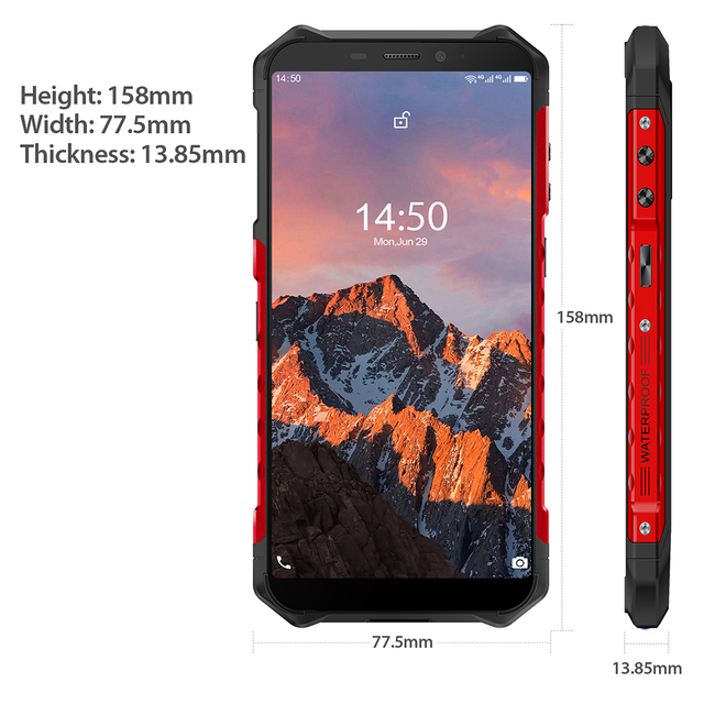Ulefone Armor X5 Pro Rugged Waterproof Smartphone 4GB+64GB Android 10.0 Cell Phone NFC 4G LTE Mobile Phone 5