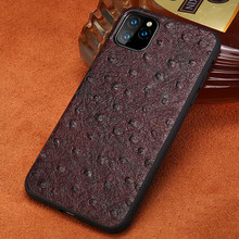 Genuine Leather case For Iphone 11 leather 7plus 8plus phone case shockproof back cover For iphone 11 pro max xr xs 7 8 6splus(China)