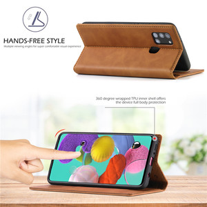 Image 4 - Luxury Case For Samsung Galaxy A21S Case Leather Flip Wallet Magnetic Card Bags Case Samsung Galaxy A21S Phone Cover Stand