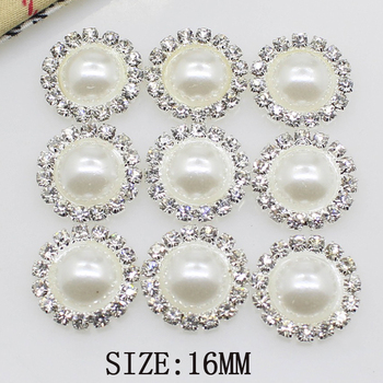 High-grade simple 10 pieces 16mm Diy wholesale price crystal pearl wedding jewelry accessories rhinestone crafts exquisite produ - discount item  15% OFF Jewelry Making