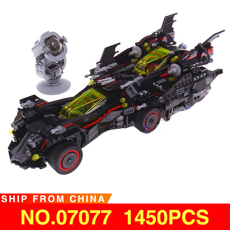 Marvel Super Heroes Batman Movie Ultimate Batmobile 07077 And 07111 App-controlled Set Kids Compatible Legod 70917 76112Building