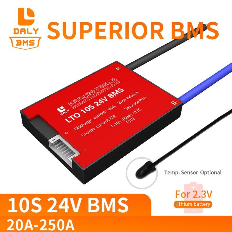 052 18650 LTO BMS 10S 20A 40A 60A 80A a 250A batería de titanato de litio bms a protección de circuito LTO Accesorios para baterías  - AliExpress