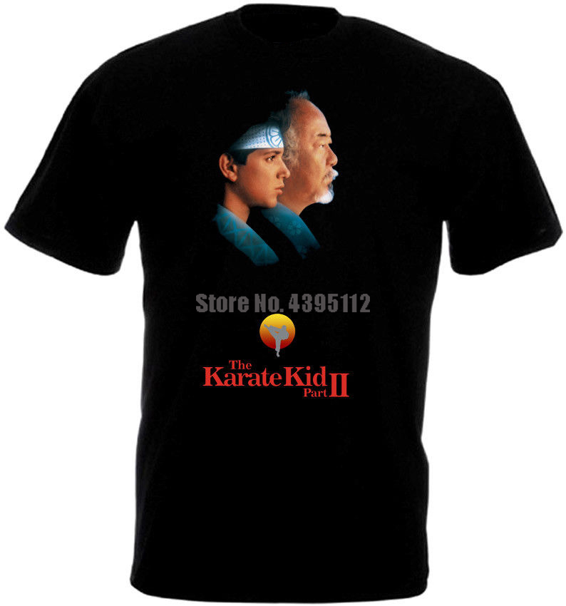 The Karate Kid Movie Poster Youth Horror T-Shirts Stylish Shirts Summer T Shirts Ussr Tshirt Airborne Russia Wmlzkv image