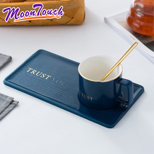 Creative Coffee Cup and Saucer Set Ceramic Breakfast Milk Afternoon Tea European Simple Style Water Cafe with Handle