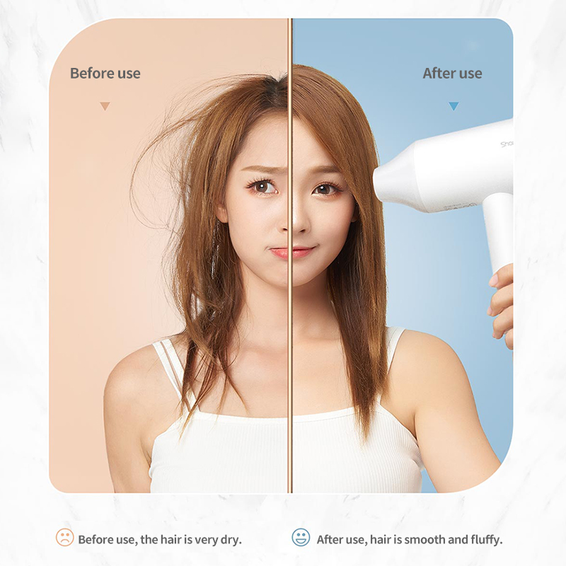 XIAOMI MIJIA Anion Hair Dryer Showsee A1-W Professinal Quick Dry Hair Dryer Mihome 1800W Hair Care Portable Hairdryer Diffuser