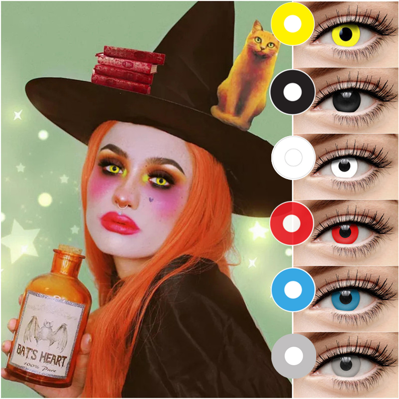EYESHARE 2 Pcs/1 Pair Halloween Cosplay Colored Contact Lens Eye Cosmetic Contact Lenses Eye Beauty Equipment
