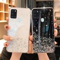Glitter Telefon Fall Für Samsung galaxy A21S Fall Bling Glitter Weiche Rückseitige Abdeckung zu auf Für SAMSUNG A21S EINE 21 S A21 S A217F fällen