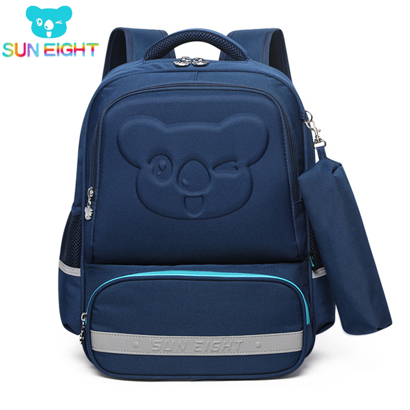 SUN EIGHT Kids School Backpacks Cartoon Pattern New Arrival Orthopedic Back Girls School Bags Children Bag