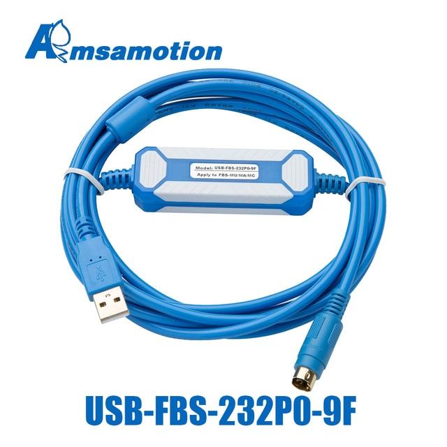 USB FBS 232P0 9F מתאים Fatek FBS FB1Z B1 סדרת PLC זהב מצופה ממשק תכנות כבל USB גרסה כדי RS232 מתאם