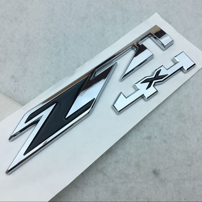 1x Grille Z71 4x4 Emblem Badge for GMC Chevy Silverado 1500 2500HD Sierra Black