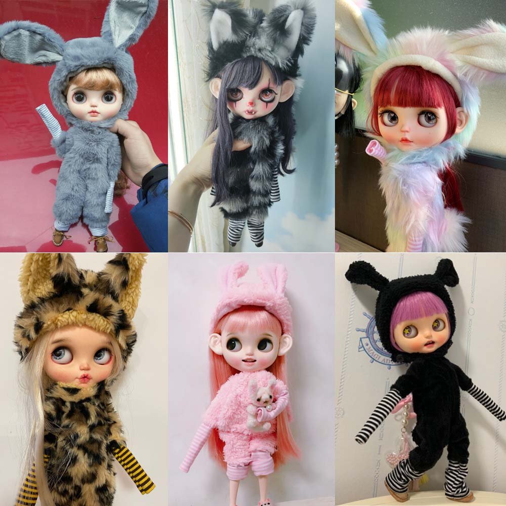 Handmade Cute Doll Clothes For Joint Doll For Blyth Rabbit Pajamas