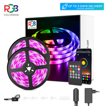 LED Strip Light RGB 5050 Lights  Music Sync Color Changing Built-in Mic, App Controlled LED Lights Rope Lights 5M 10M 20M 1