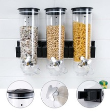 1.5L Wall Hanging Sealed Storage Tank Kitchen Grain Distributor Food Storage Barrel Cereal Machine