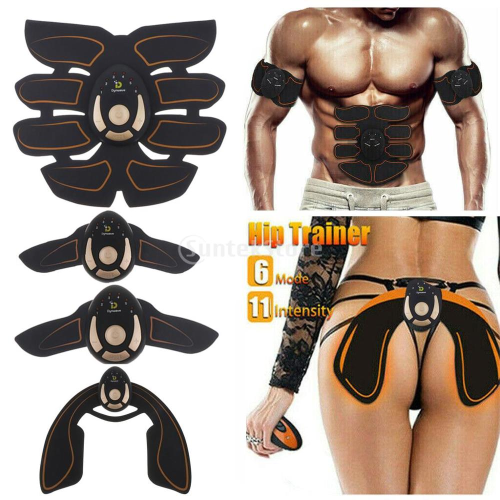 Fitness Equipment Home Gym Abdominal Muscle Stimulator Hip Trainer EMS Massage ABS Muscles Electrostimulator Toner Body Exercise