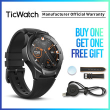 TicWatch S2 Schwarz Smart Uhr Bluetooth GPS Sport Uhr Android&iOS kompatibel 5ATM Wasserdichte Google Assistent Mobvoi Original(China)
