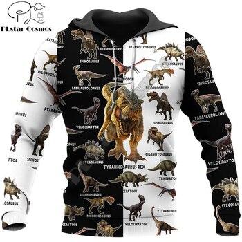 цена на Dinosaur 3D All Over Printed Men hoodies Harajuku Fashion Casual Hooded Sweatshirt Unisex zip hoodies Drop shipping