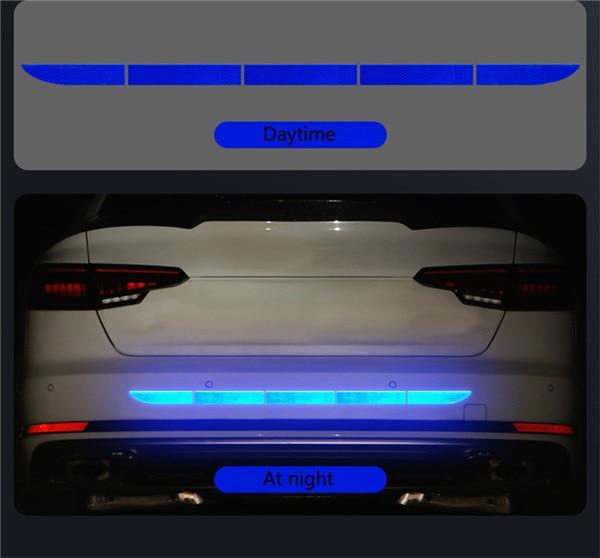 Нано Светоотражающая наклейка для автомобиля Предупреждение льная лента бесследная Защитная Наклейка для автомобиля предупреждающая на кузов багажника внешние автомобильные аксессуары - Название цвета: Diamond Blue