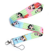CA105 The Powerpuff Girls Cartoon Straps Lanyard ID Badge Neck Rope Chain Necklace Jewelry