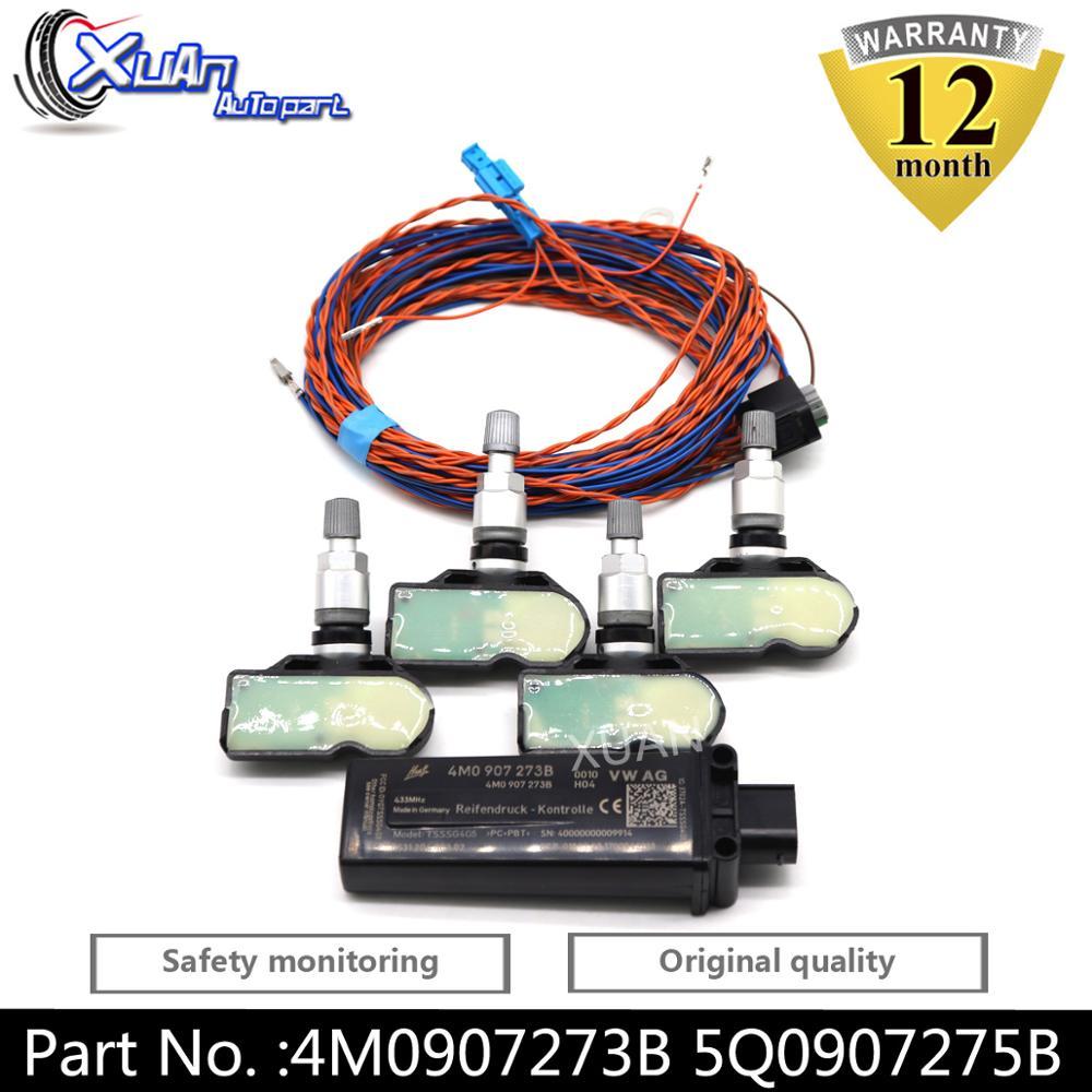 XUAN Tire Pressure Sensor Monitoring System TPMS 4M0907273B 5Q0907275B For AUDI A3 A4 B9 Q2L Q3L A5 A6 A7 A8 Q7 Q8 Q5L 2018-2021