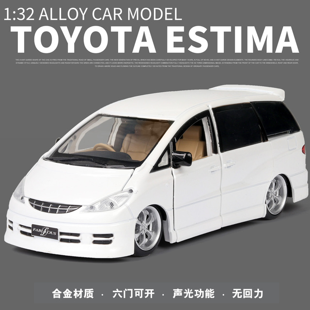 New 1:32 TOYOTA ESTIMA  Alloy Car Model Diecasts & Toy Vehicles Toy Cars Educational Toys For Children Gifts Boy Toy