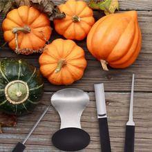 V 4 шт набор из нержавеющей стали для вырезания тыквы на Хеллоуин