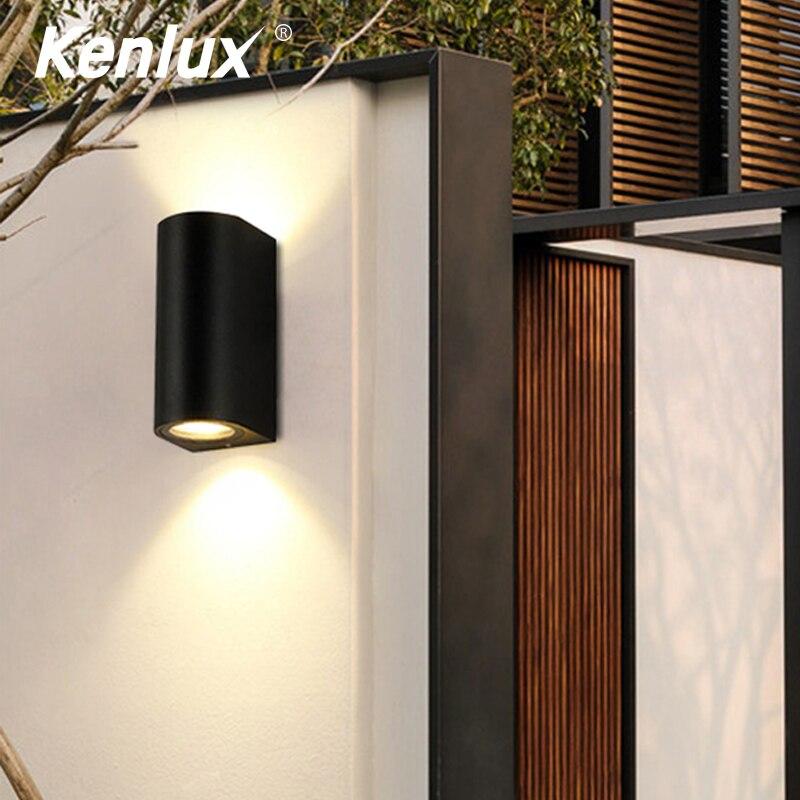 Kenlux 5W/10W LED Wall Light Outdoor Waterproof IP65 Porch Garden Wall Lamp Sconce Balcony Decoration Lighting Lamp Ken02