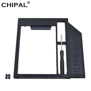 CHIPAL Plastic 2nd Second HDD Caddy 9.5mm 9mm SATA 3.0 Optibay 2.5'' SSD DVD Hard Disk Driver CD-ROM Adapter Case Enclosure
