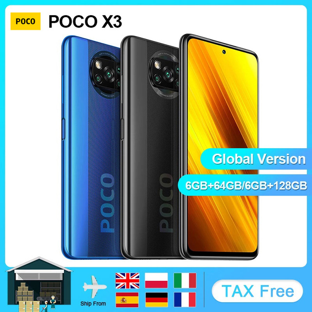 """Xiaomi POCO X3 NFC Global Version Smartphone Android  64GB 128GB Snapdragon 732G 64MP Camera 5160mAh 6.67"""" 120Hz  33W Charge 1"""