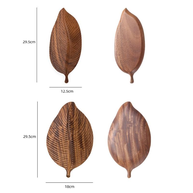 Поднос для сервировки листьев, ящик для хранения десертов, деревянный органайзер, тарелка, деревянные декоративные подносы, Аксессуары для фотографии, домашние мелкие предметы-4
