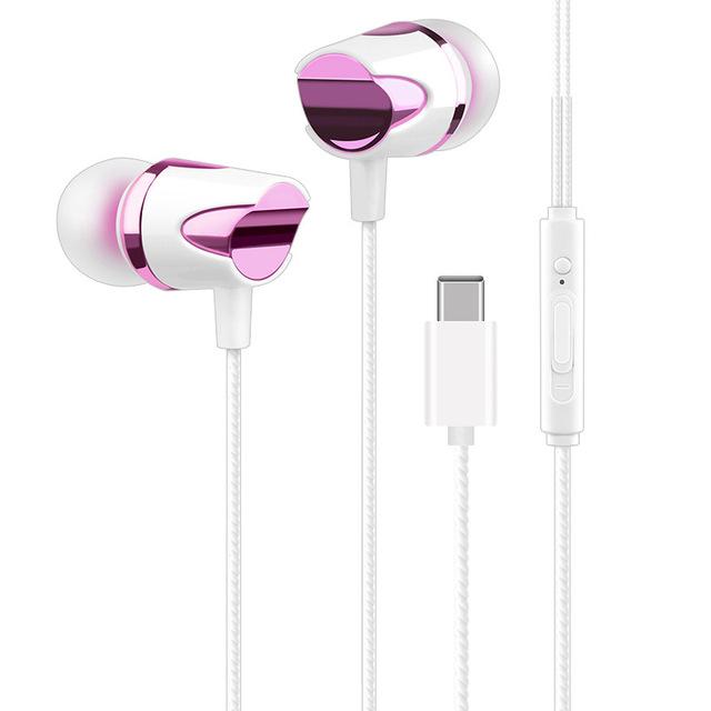 Type-C Earphone Stereo Audio In-Ear Wired Hearphone