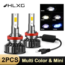 HLXG Mini H7 LED H4 luces daleko lampa reflektor samochodowy 10000LM 12V H11 światła LED 9005 HB3 9006 HB4 H8 H9 4300K 5000K 6000K 8000K żarówka