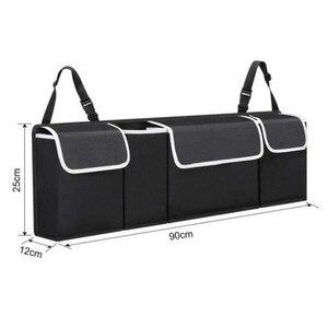 Image 4 - Car Organizer Trunk Backseat Adjustable Storage Bag Net High Capacity Multi use Oxford Back Interior Accessories Automobile Seat