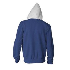 Image 2 - Sweat shirt à capuche avec fermeture éclair pour hommes, vêtements de détective Anime Conan, capuche Cosplay