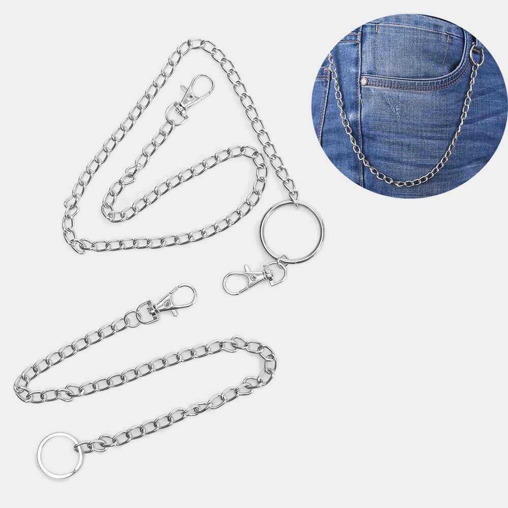 1Pc Lange Hosen Hipster Schlüssel Ketten Punk Straße Big Ring Schlüssel Kette Metall Brieftasche Gürtel Kette Hose Keychain Unisex hipHop Schmuck