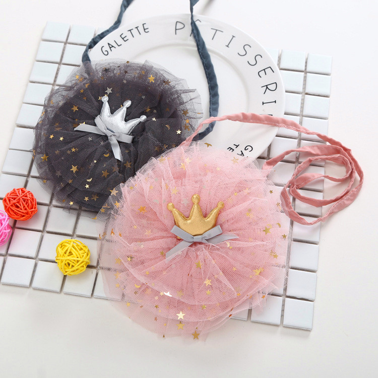 Shoulder Bags Sweet Tulle Floral Baby Girls Bags Children Bag for Girls Mini Backpacks Handbag Crossbody Clutch Purse