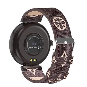 Image 2 - موضة نوبل المرأة ساعة ذكية LV88S لفتاة هدية اللياقة البدنية السيدات ساعات جلد مقاوم للماء ساعة ذكية امرأة ساعة أندرويد IOS