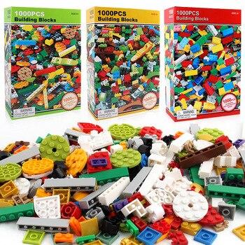 250Pcs-1000Pcs City DIY Creative Technic Building Blocks Bulk Sets Friends Classic Kits Creator Bricks Educational Kids Toys цена 2017