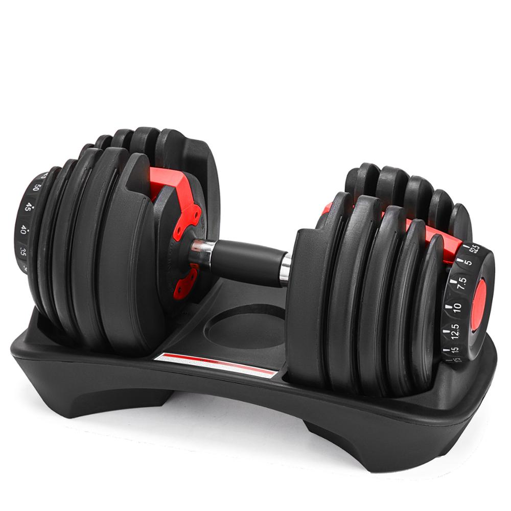 Dumbbell 5-52.5lbs Fitness Workouts Dumbbells Tone Your Strength And Build Your Muscles   Weight Adjustable  Free Shipping