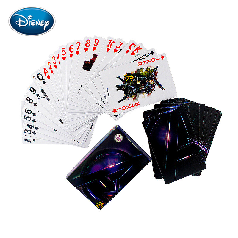 Card Game 54pcs/set Avengers/Frozen/Mickey Cartoon Paper Playing Cards Casual Desktop Card Games Children Adult Card Game