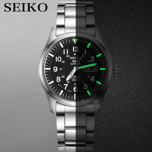 Image 3 - Seiko zegarek męski 5 automatyczny zegarek luksusowej marki wodoodporny zegarek sportowy data męskie zegarki zegarek do nurkowania relogio masculin SNZG