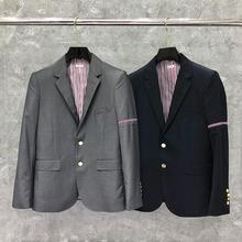 Blazer Men Jacket Coat Casual-Suit THOM Wool Brand TB Fashion Slim Autumn Cotton Formal