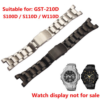 Watch accessories Suitable for G-SHOCK stainless steel strap GST-W300 / 400G / B100 / S310 stainless steel strap replacement casio g shock g steel gst w300 1a