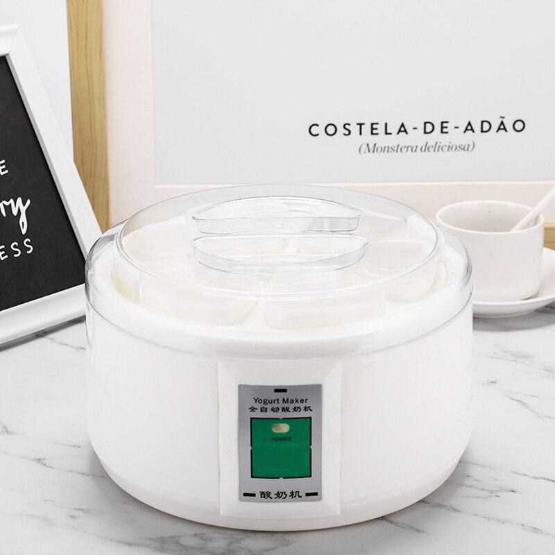 1.5L Automatic Yogurt Maker With 7 Jars Multifunction DIY Tool Yogurt Machine Natto Rice Wine Pickle Stainless Steel Liner