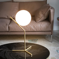 Classical glass ball desk table lamp Itay design table lamps bedside lighting nordic glass shade modern desk reading light gold